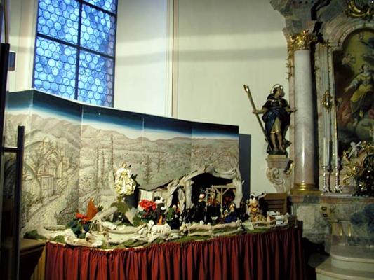 236 Hintergrundmalerei Krippe Dreifaltigkeitskirche, Claretiner Missionshaus, Spaichingen