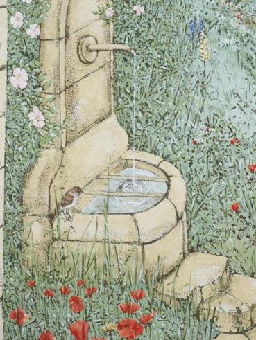 259-Illusionsmalerei-´Toscana´-Detail-mit-Brunnen-Bisingen