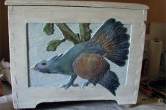 302-´Der-Auerhahn´-Kaseinmalerei-auf-Holz-Eppingen-Elsenz
